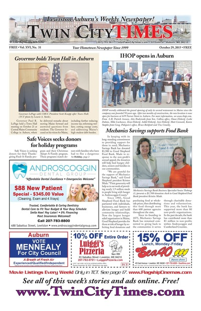 Twin City Times - Oct 29, 2015