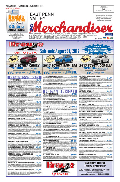 East Penn Valley Merchandiser - Aug 9, 2017