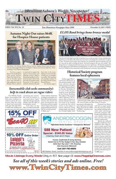 Twin City Times - Nov 12, 2015