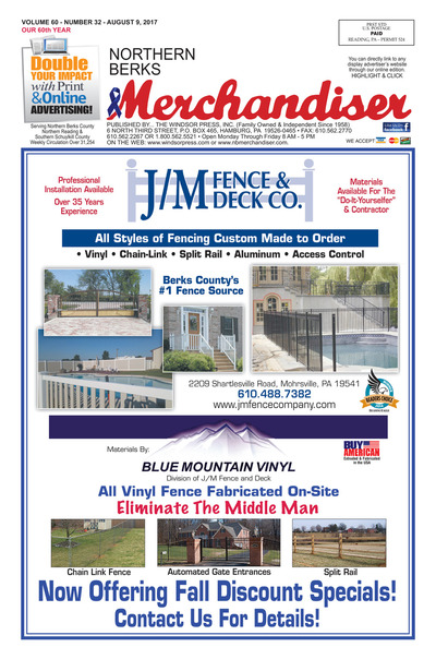 Northern Berks Merchandiser - Aug 9, 2017