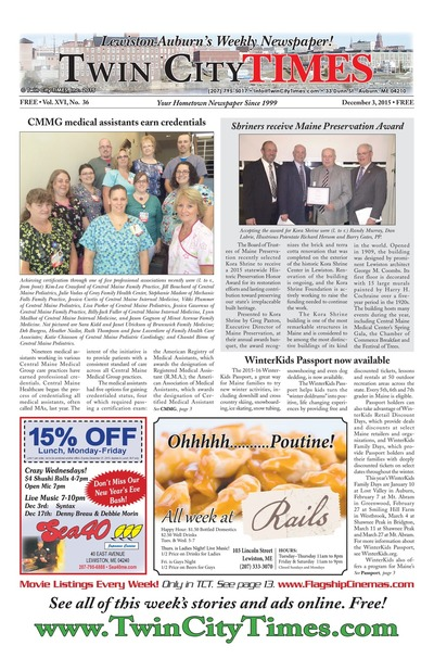 Twin City Times - Dec 3, 2015