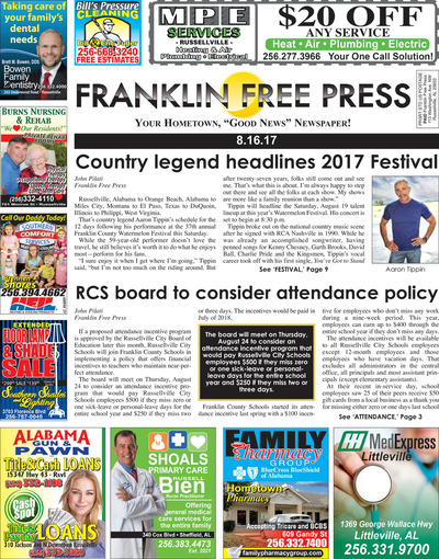 Franklin Free Press - Aug 16, 2017