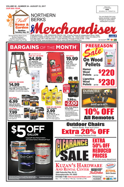 Northern Berks Merchandiser - Aug 23, 2017