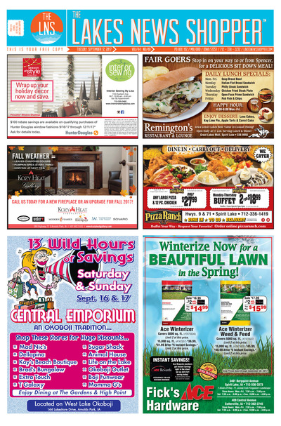 Lakes News Shopper - Sep 12, 2017