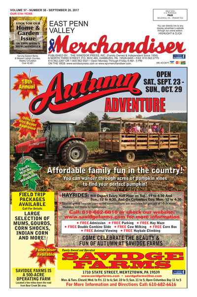 East Penn Valley Merchandiser - Sep 20, 2017
