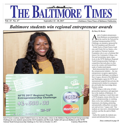 Baltimore Times - Sep 22, 2017