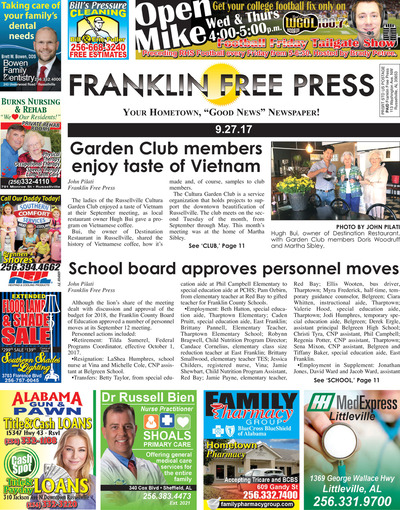 Franklin Free Press - Sep 27, 2017