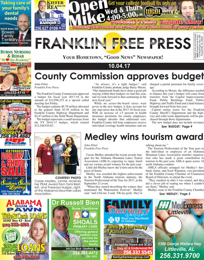 Franklin Free Press - Oct 4, 2017