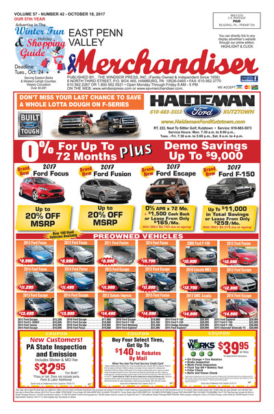 East Penn Valley Merchandiser - Oct 18, 2017