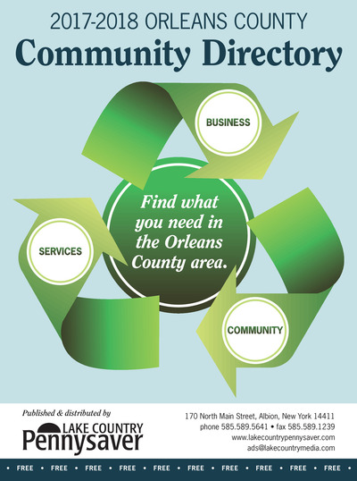 Lake Country Pennysaver - 2017-2018 Orleans Community Business Directory - Oct 29, 2017
