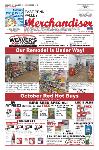 East Penn Valley Merchandiser - Oct 25, 2017