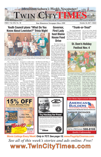 Twin City Times - Oct 26, 2017