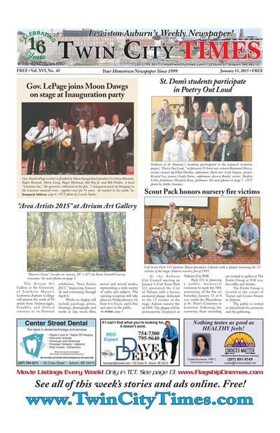 Twin City Times - Jan 15, 2015