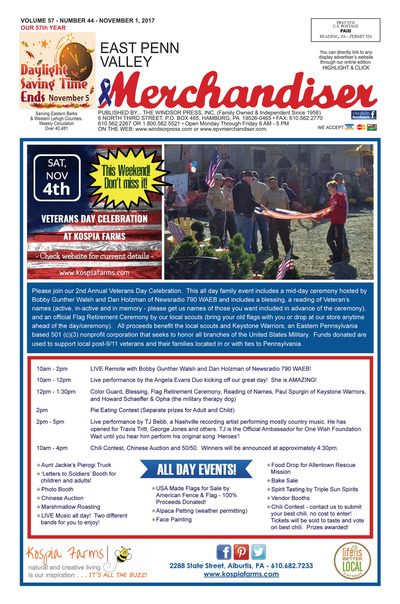 East Penn Valley Merchandiser - Nov 1, 2017