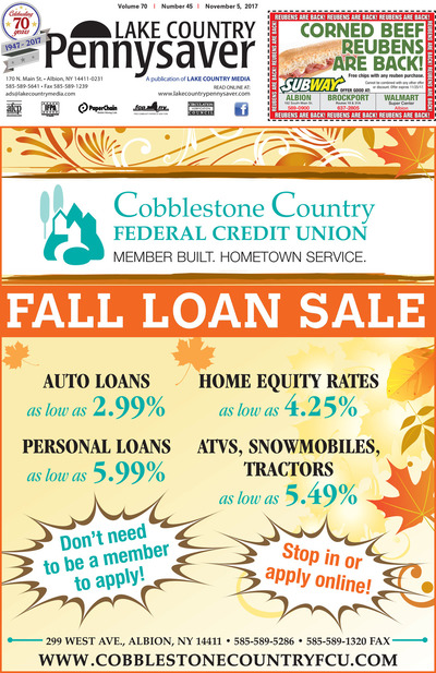 Lake Country Pennysaver - Nov 5, 2017