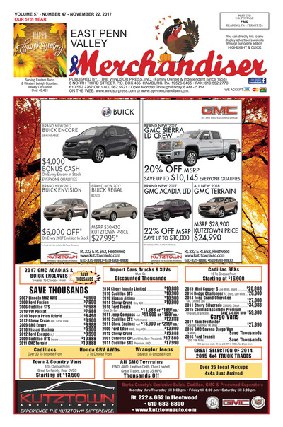 East Penn Valley Merchandiser - Nov 22, 2017