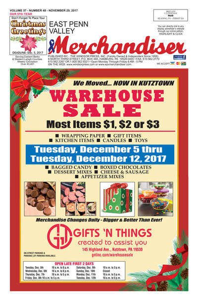 East Penn Valley Merchandiser - Nov 29, 2017