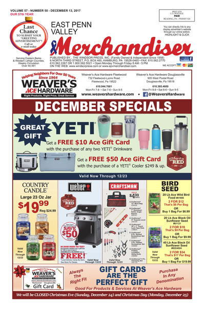 East Penn Valley Merchandiser - Dec 13, 2017