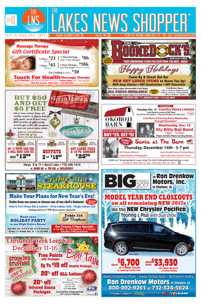 Lakes News Shopper - Dec 12, 2017