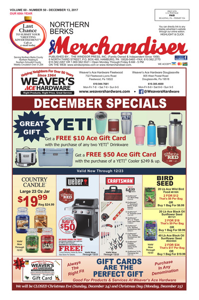 Northern Berks Merchandiser - Dec 13, 2017