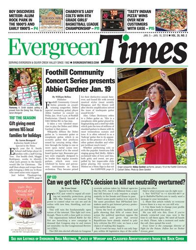 Evergreen Times - Jan 5, 2018