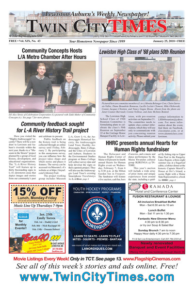 Twin City Times - Jan 25, 2018