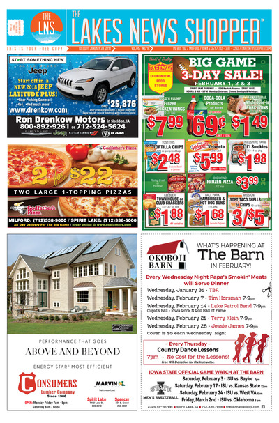 Lakes News Shopper - Jan 30, 2018