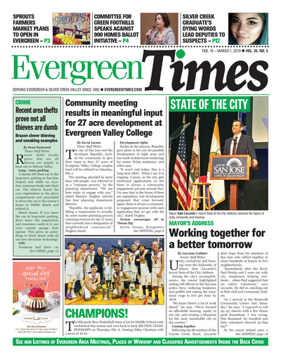 Evergreen Times - Feb 16, 2018