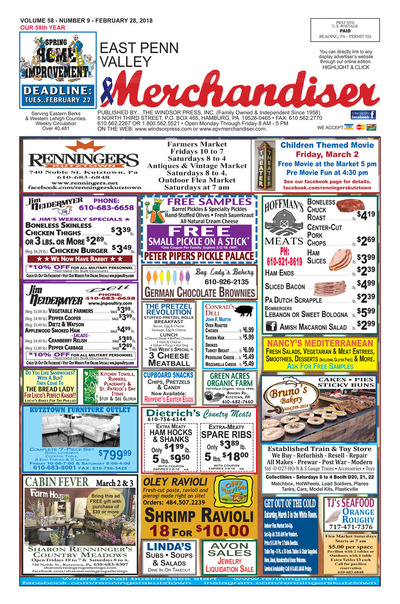 East Penn Valley Merchandiser - Feb 28, 2018