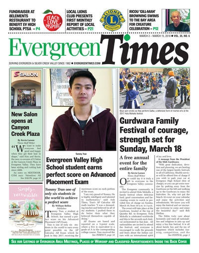 Evergreen Times - Mar 2, 2018