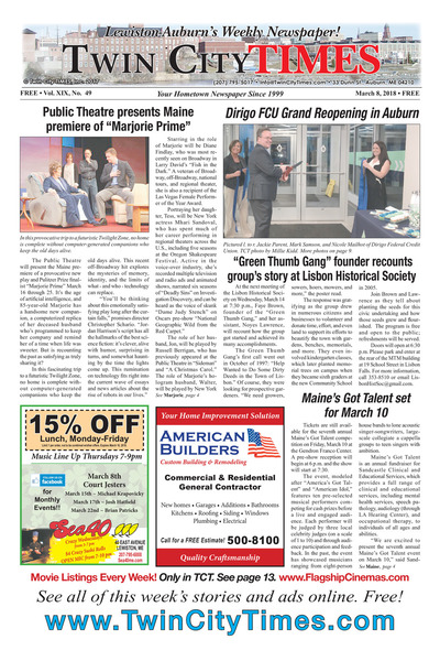 Twin City Times - Mar 8, 2018