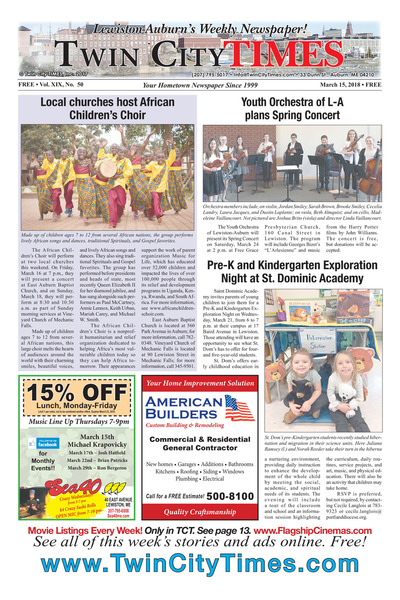 Twin City Times - Mar 15, 2018