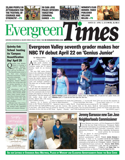 Evergreen Times - Mar 30, 2018