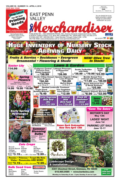 East Penn Valley Merchandiser - Apr 4, 2018