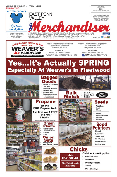 East Penn Valley Merchandiser - Apr 11, 2018