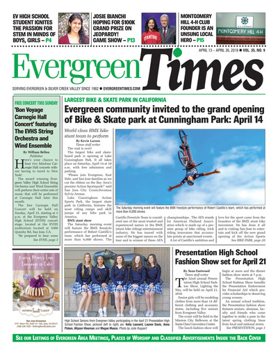 Evergreen Times - Apr 13, 2018