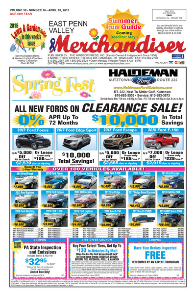 East Penn Valley Merchandiser - Apr 18, 2018