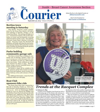 Delmarva Courier - Sep 30, 2015