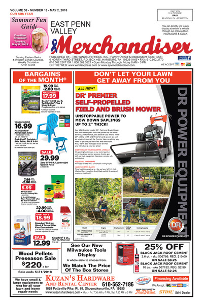 East Penn Valley Merchandiser - May 2, 2018