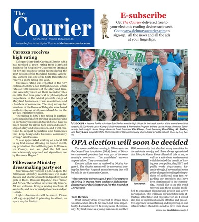 Delmarva Courier - Jul 29, 2015