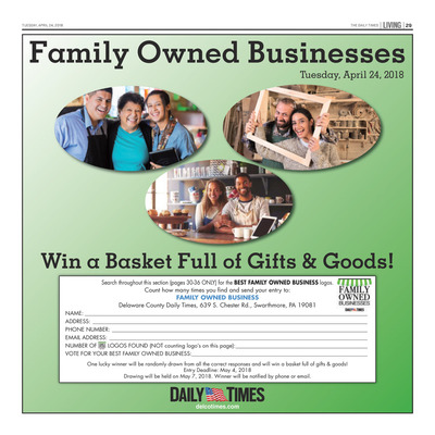 Delco Daily Times - Special Sections - Family Owned Businesses
