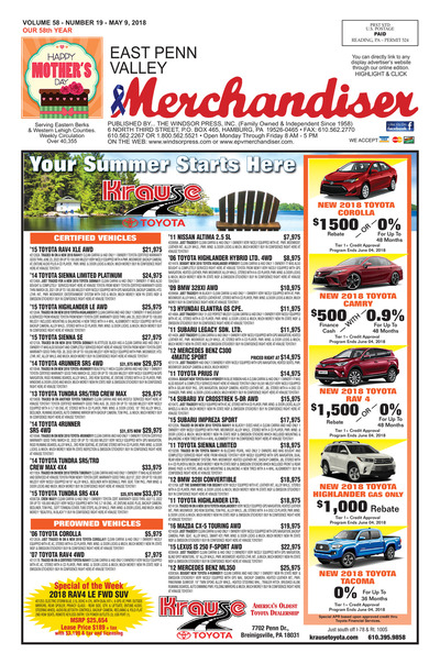 East Penn Valley Merchandiser - May 9, 2018