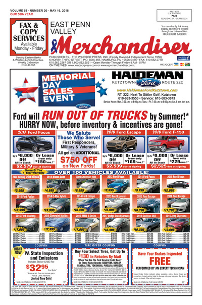 East Penn Valley Merchandiser - May 16, 2018