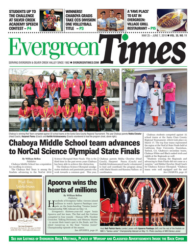 Evergreen Times - May 25, 2018