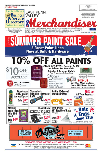 East Penn Valley Merchandiser - May 30, 2018