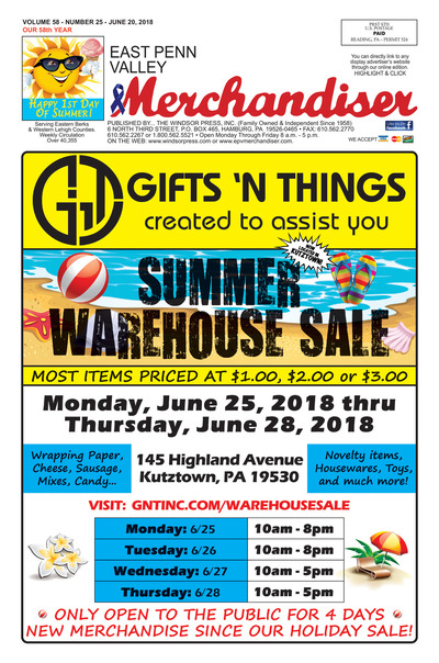 East Penn Valley Merchandiser - Jun 20, 2018
