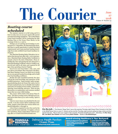 Delmarva Courier - Jun 27, 2018